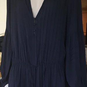 VIX Paul's Hermanny Navy Coverup Pleated Front M